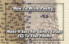 How To Write Poetry: Make It Easy For Editors To Say YES To Your Poems  - Writer's Relief