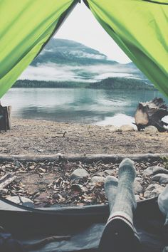 Who doesn't like opening their tent to a beautiful place with clean crisp air filling your lungs?