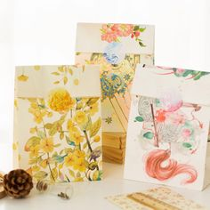 24sets style paper bag elegance flower design gift packaging birthday party candy holding