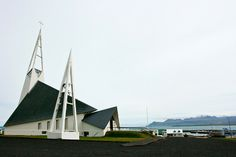 The Olafsvik Church on the Snæfellsnes Peninsula is made entirely of triangular pieces.