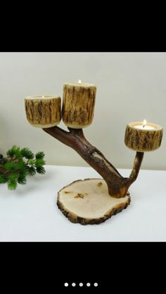 Wood Projects For Beginners, Wooden Candle Holders, Driftwood Crafts, Wooden Projects, Candle Stand, Best Candles, Country Crafts, Wooden Gifts, Photo On Wood