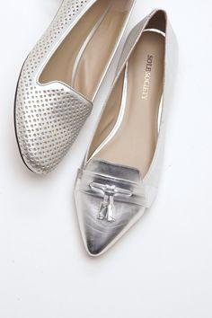 Summer laser cut loafer in silver