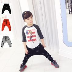 Kid's clothing 2017 autumn type star pure cotton child trouser children long pants children men girls haren human relations trouser