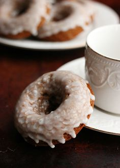 Culinary Couture: Glazed Gingerbread Donuts
