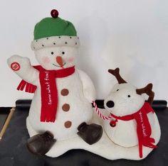 Hallmark Animated Jingle Pals Singing Snowman and Dog Retired Christmas 2004