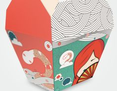 Chinese Take Out Box by Liannie Rios, via Behance Takeaway Packaging, Food Packaging Design, Box Packaging, Paper Packaging, Chinese Fast Food, Chinese Street Food, Chinese Delivery, Chinese Takeout Box, Rice Box