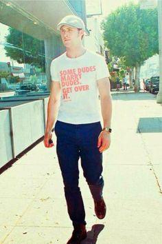 Ryan Gosling sporting a great T-shirt