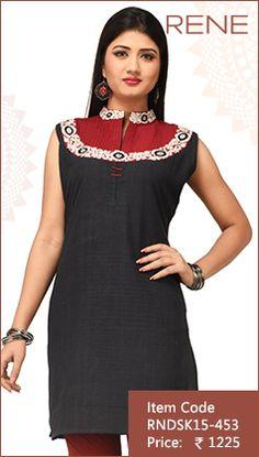#Black #KhadiCotton #Kurti #Fashion #Apparels #Clothing #EthnicWear #Style #Women