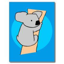 Koala bear 17a postcard