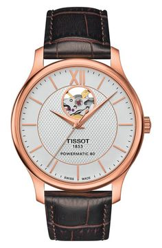 Tissot Tradition Leather Strap Watch, 40mm