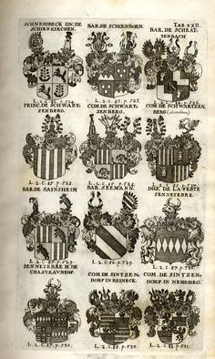 Spener, Philipp Jakob: Historia Insignium Illustrium Seu Operis Heraldici Pars Specialis. - Frankfurt <Main>, 1717. Jpg, Frankfurt, Maine, History, Mannheim, Crests