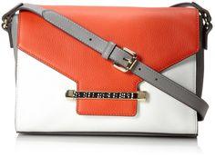 Vince Camuto Julia Cross Body Bag,Snow White/Sunset Orange,One Size