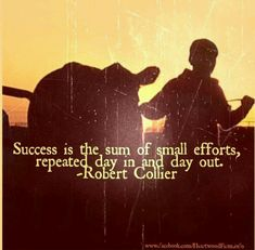 I believe this 100%. Especially when it comes to showing cattle! A good showman works everyday, for hours at a time to get their show animals ready for each show. It takes a lot of hard work and dedication to be successful but in the end the rewards are endless. People may think I am different or weird for spending so much time in my barn with my calves but I am living my dream...what's yours?