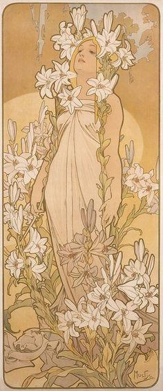 《四つの花「ユリ」》 1897年 堺市