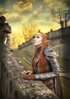 The Elder Scrolls Online cosplay by emilyrosa on DeviantArt Skyrim Cosplay, Elf Cosplay, Cosplay Armor, Cosplay Girls, Cosplay Costumes, Cosplay Ideas, Elder Scrolls Games, Elder Scrolls Online, Redhead Characters