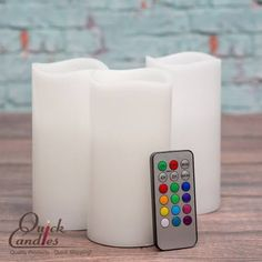 2 white lighted candles