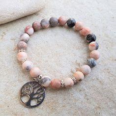 Náramek jaspis pink zebra a strom života Beaded Bracelets, Jewelry, Jewlery, Jewerly, Pearl Bracelets, Schmuck, Jewels, Jewelery, Fine Jewelry