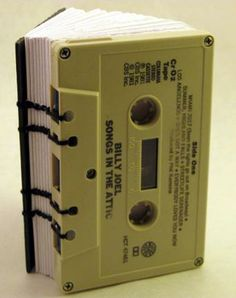 upcycle cassette tapes | cassette tape book,BILLY JOEL, songs in the attic, blank, journal ...