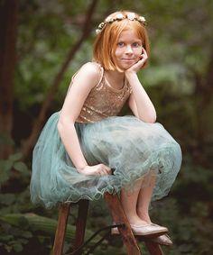 Another great find on #zulily! Green Sequin Overlay Dress - Toddler & Girls #zulilyfinds