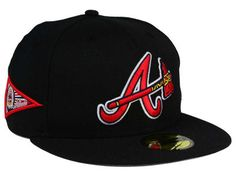 For a year-round baseball cap with something extra, try the Atlanta Braves New Era MLB Banner Patch 59FIFTY Cap. The high crown and flat visor are the perfect background for both the Atlanta Braves logo and an additional pennant patch on the right side of the cap. An official MLB logo on the back finishes the look.