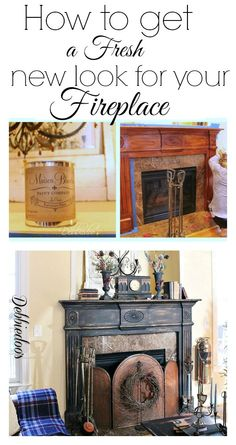 How to paint your fireplace surround- No priming, no sanding, just paint! #diy #fireplacemakeover