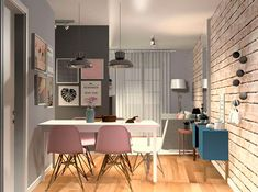 projeto em 3D do apartamento da Sabrina