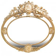 NEOCLASSICAL STYLE GILT-WOOD AND COMPOSITION MIRROR ❤❤❤