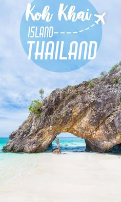 Come Explore Koh Khai Island Thailand On The Way To Koh Lipe! Koh Khai is famous for its stone arch and white sandy beaches. Getting to Koh via @gettingstamped