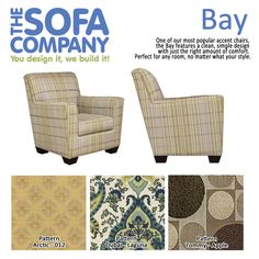 Check out our style of the week: Bay! The most flexible and irresistible of our accent chairs, Bay is truly a transitional piece that's perfect for any home, any room of the house.