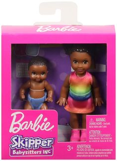 Barbie Skipper Babysitters Inc. Dolls, 2 Pack of Sibling Dolls Includes Small Toddler Doll with Brunette Pigtails & Blonde Baby Doll Figure in Diaper, for 3 to 7 Year Olds Barbie Doll Set, Barbie Skipper, Doll Clothes Barbie, Barbie Toys, Small Baby Dolls, Toddler Dolls, Disney Characters Costumes, Barbie Playsets, Blonde Babies