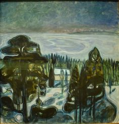 Edvard Munch - White Night, 1901 at National Museum of Art Oslo Norway