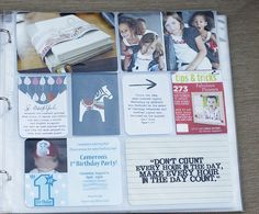 I think this is the only way I'll be able to get scrapbooking done with 3 boys in the house - I'll have to resort to making sleeves creative (this is not mine, just one I found on pinterest)
