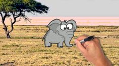 How to draw and paint a cute elephant [also for kids]