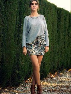 nightnonstop Outfit   Otoño 2012. Combinar Sudadera Gris Pull