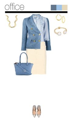 Office outfit: Blue - Beige - Animal Print by downtownblues on Polyvore #officewear #animalprint #snakeskin