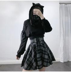 Egirl Fashion, Teen Fashion Outfits, Edgy Outfits, Cute Casual Outfits, Mode Outfits, Kawaii Fashion, Grunge Outfits, Cute Fashion, Korean Fashion