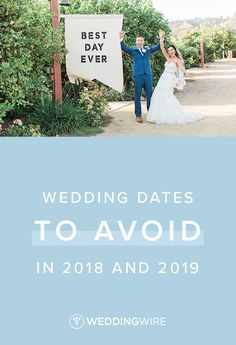 The Wedding Dates to Avoid in 2018 and 2019 - Before picking your wedding date, there are a lot of things you'll want to consider. Check out the list of wedding dates to (potentially) avoid in 2018 and 2019 on WeddingWire! {Lucas Rossi Photography}