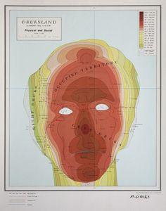 Cartographic self-portrait, Michael Druks