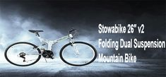 Want to get a folding mountain bike at the budget price. In market various types of folding mountain bike with a premium price. So today we provide you best selling decent price folding mountain bike. Stowabike 26″ v2 Folding Dual Suspension Mountain Bike. This bike is an awesome mountain bike. If you want to know more about it. You should read this review. We provide pros, cons with lots of features.  #stowabike #foldingmountainbike #mountainbike #stowabike26v2 Mountain Bike Reviews, Best Mountain Bikes, Mountain Biking, Dual Suspension Mountain Bike, Stowa, Bicycle, Budget, Awesome