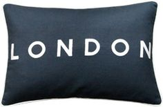London Cushion, Embroidered