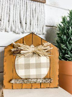Wooden Pumpkins, Mini Pumpkins, Fall Pumpkins, Craft Stick Crafts, Fall Crafts, Dollar Tree Pumpkins, Budget Crafts, Apple Barrel, White Acrylic Paint