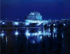 CSA blue, Tommaso Ottieri, 2017, olio su pannello, 140x 180 #ckcontemporary #art #painting #cityscape #contemporaryart