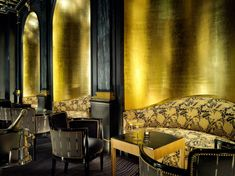 we will gold or rose gold or copper leaf the alcoves like this