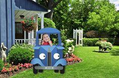 Little Blue Truck Digital Lawn Decorations-Little Blue Truck Birthday Banner- Little Blue Truck Birthday Party - Little Blue Truck Birthday