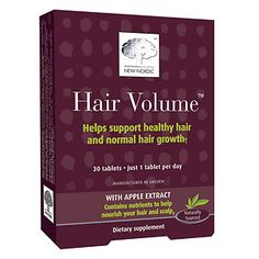 Buy New Nordic Hair Volume Supplement, Tablets with free shipping on orders over…