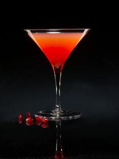Bleeding Heart Martini 2.5 ounces Bacardi Rum 2 ounces Ocean Spray ...