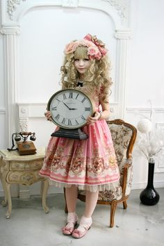 sweet lolita in a classic setting