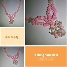 Kalung batu warna pink 30rb..  Free ongkir Jatim