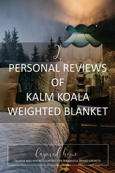 2-personal-reviews-kalm-koala-weighted-blanket Pink Wallpaper Bedroom, Wallpaper Ceiling, Wood Wallpaper, Blue And Pink Bedroom, Green Lounge, Jungle Bedroom, Dark Blue Living Room, Dark Blue Green, Eclectic Living Room
