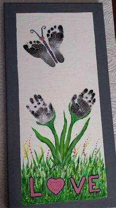Butterfly Hand & Footprint Art